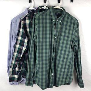 J.crew Slim Fit Cotton Shirt Lot (3 Shirts)